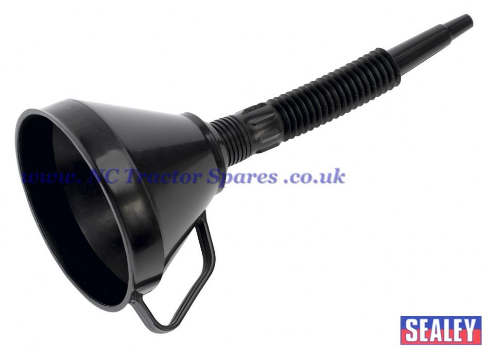 funnel with flexible spout  u0026 filter 160mm